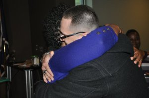 Ressurrection Graves hugging someone at her book signing!