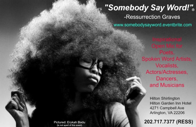 somebody say word event advertisement