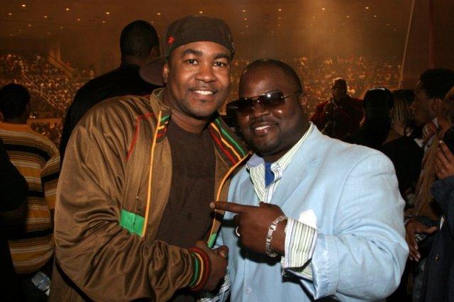 Pictured on Left: Pastor and Gospel Recording Artist Canton Jones - Pictured on Right: Pastor Brian Scott, the Sisterhood